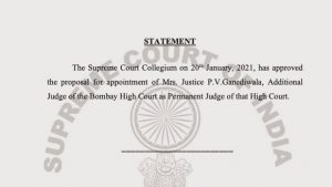 Pushpa Ganediwala to be permanent judge of Bombay High court. Collegium approves proposal