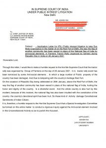Mumbai law student writes letter to CJI seeking action against Red Fort incident